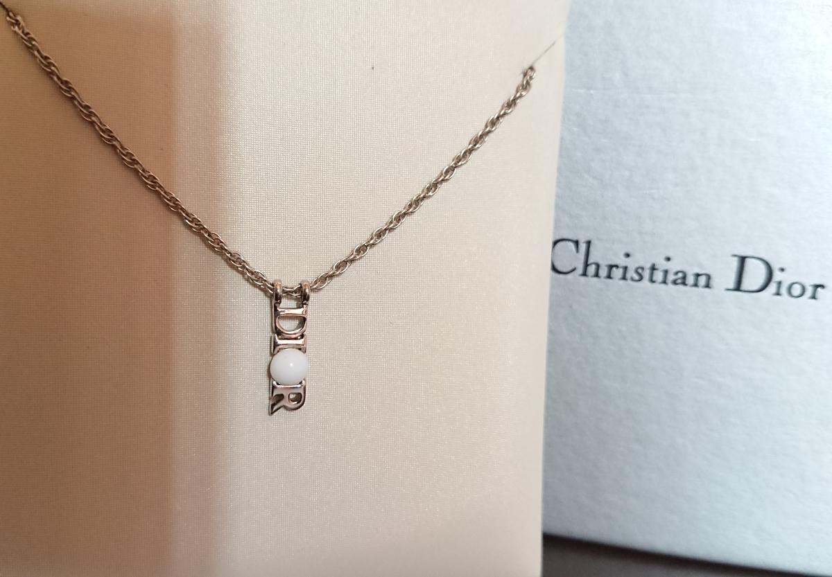 size 40 13432 1b847 中古】Christian Dior クリスチャン・ディオール ネックレス ...