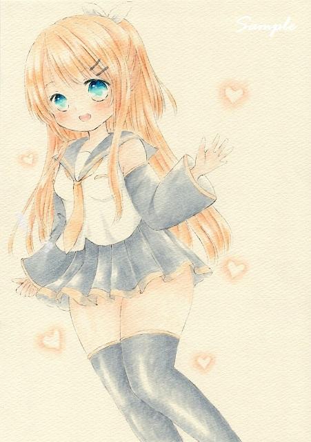 同人手描きイラスト Vocaloid 鏡音リン 大人リンver B5 難あり の