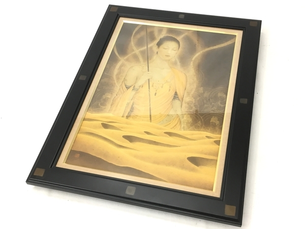 日本画家 奥山 忠 『儷』 絵画 仏画 1999年 作品 共シール W4098618 の ...