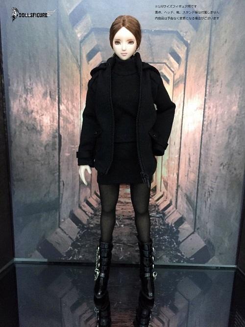 4add7f1042cd0 ... 1 6フィギュア用衣装 パーカージャケットセット 黒(DOLLSFIGURE CC298)の2 ...
