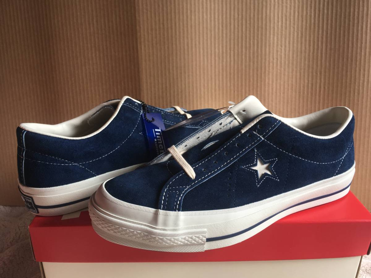 6808441e4c40 新品未使用 CONVERSE TIMELINE ONE STAR J VTG NAVY ADDICT MADE IN JAPAN コンバース ワン