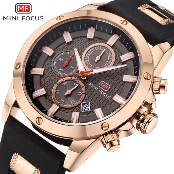 96f54a57f5 送料無料◇MINIFOCUS メンズ 腕時計 クロノグラフ クォーツ スポーツ ミリタリー カジュアル 海外ブランド 箱