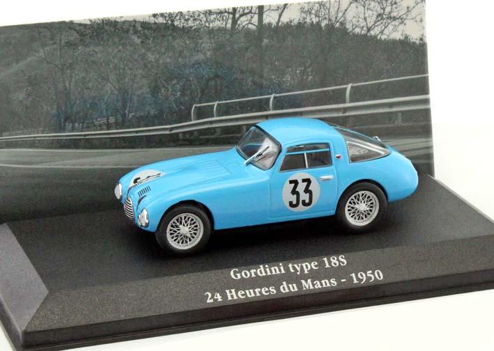 1:43 Atlas Gordini Saga Gordini Type 18S #33 24h Le Mans 1950