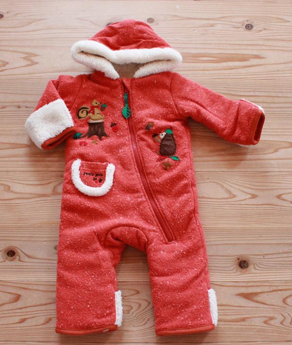c25aef3bd2648 プチジャム petit jam 防寒 カバーオール ジャンプスーツ ロンパース 赤ちゃん ベビー 80cmの1番目の画像