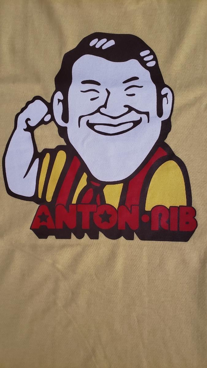 アントニオ猪木anton Ribバックプリントイラストtシャツm新日本プロレス