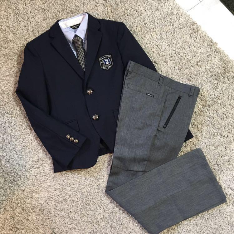 5cc610c80921a ... コムサイズム フォーマル スーツ 一式セット 150cm 一度着の美品♪ 男の子 卒業式 入学