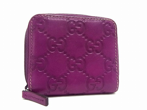 cheap for discount 324be 9c768 1円 □美品□ GUCCI グッチ 115255 0416 シマ レザー コイン ...
