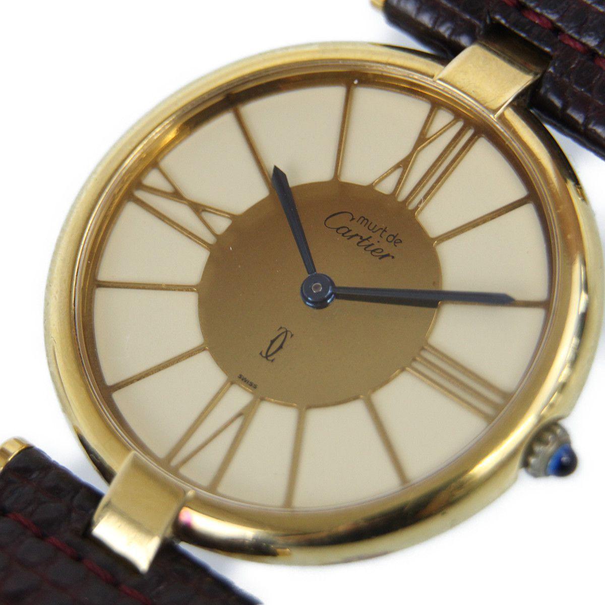 e659399e01ff 1円~ Cartier カルティエ マストヴァンドーム ヴェルメイユ レディース腕時計 クオーツ 女性用 【中古