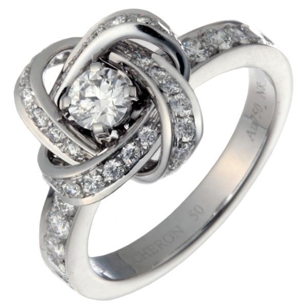 6b16fa71ee41 飯能本店]Boucheron ブシュロン アバ ピヴォワンヌ ダイヤモンド リング・指輪 750ホワイトゴールド 10