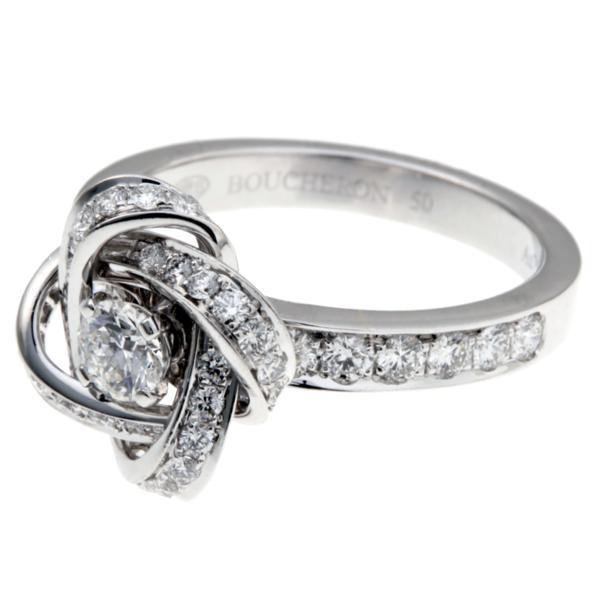 39ef30ea2401 ... 飯能本店]Boucheron ブシュロン アバ ピヴォワンヌ ダイヤモンド リング・指輪 750ホワイトゴールド 10 ...