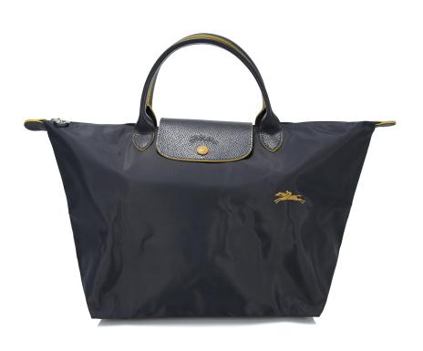 8ebf792811c2 新品 ロンシャン ル プリアージュ コレクション ハンドバッグ M ガンメタルの1番目の画像