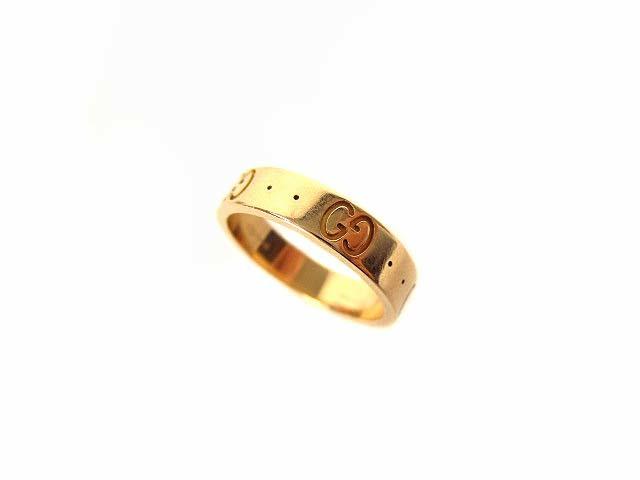 77fe692c5714 グッチ GUCCI アイコンリング 指輪 GGリング ICON K18PG 750 アクセサリー ピンクゴールド 9号の