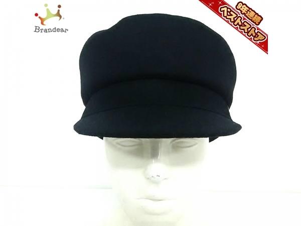 5d9f0a959ae0 シャネル CHANEL ハット M ウール×コットン×ポリアミド×ポリエステル 黒 キャスケット 新品同様 帽子