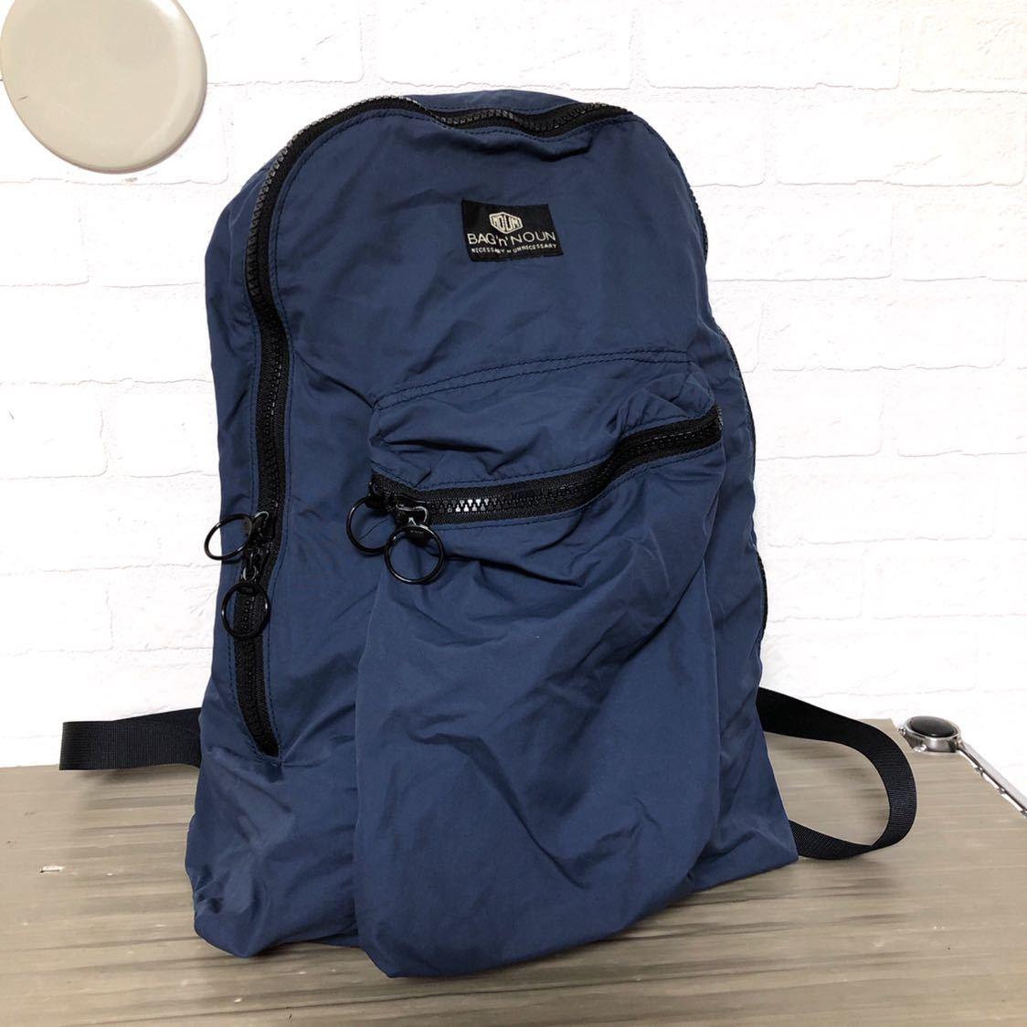 94b2588a1fe4 330☆ BAG'n'NOUN バッグンナウン リュック バックパック デイパック レディース 鞄 カバン ネイビー