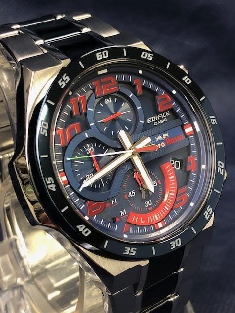 77f1637d6a 1円 CASIO カシオ EDIFICE エディフィス スクーデリア・トロ・ロッソ・リミテッドエディション 腕時計 メンズ