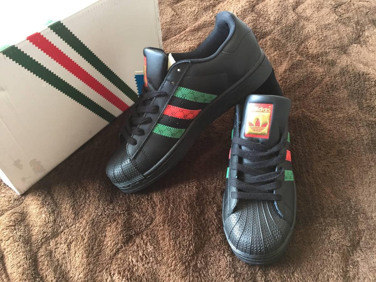 online retailer 79c38 c42f5 新品】adidas × GUCCI SUPERSTAR カスタムスニーカー ...