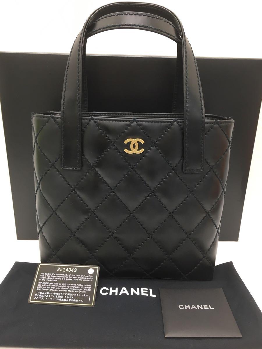 2ae7299b36dc 新品同様品 CHANEL シャネル Wild stitch ワイルドステッチ handbag ハンドバッグ totebag トートバッグ A18126