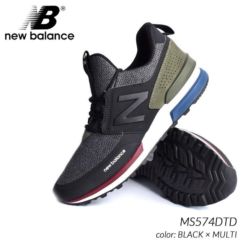 ca8b1be6b1186 海外限定 ニューバランス スニーカー NEW BALANCE MS574DTD BLACK × MULTI ( 日本未発売 黒 ブラック