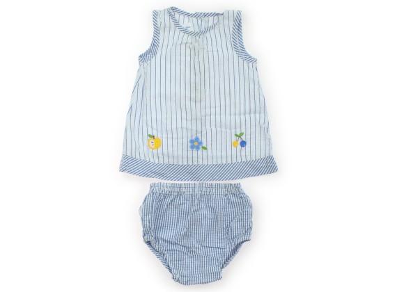 f4087010e8718 ファミリア familiar ワンピース 80 女の子 水色ストライプ 子供服 ベビー服 キッズ(364173)の1