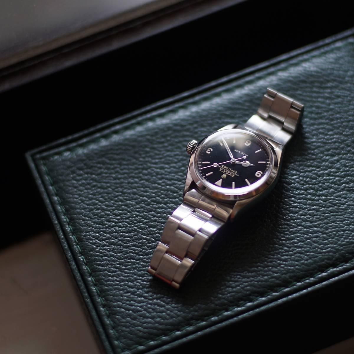 timeless design b9bbc 77cac 美品 OH済 Rolex 5500 Explorer ミラー文字盤 (ロレックス ...