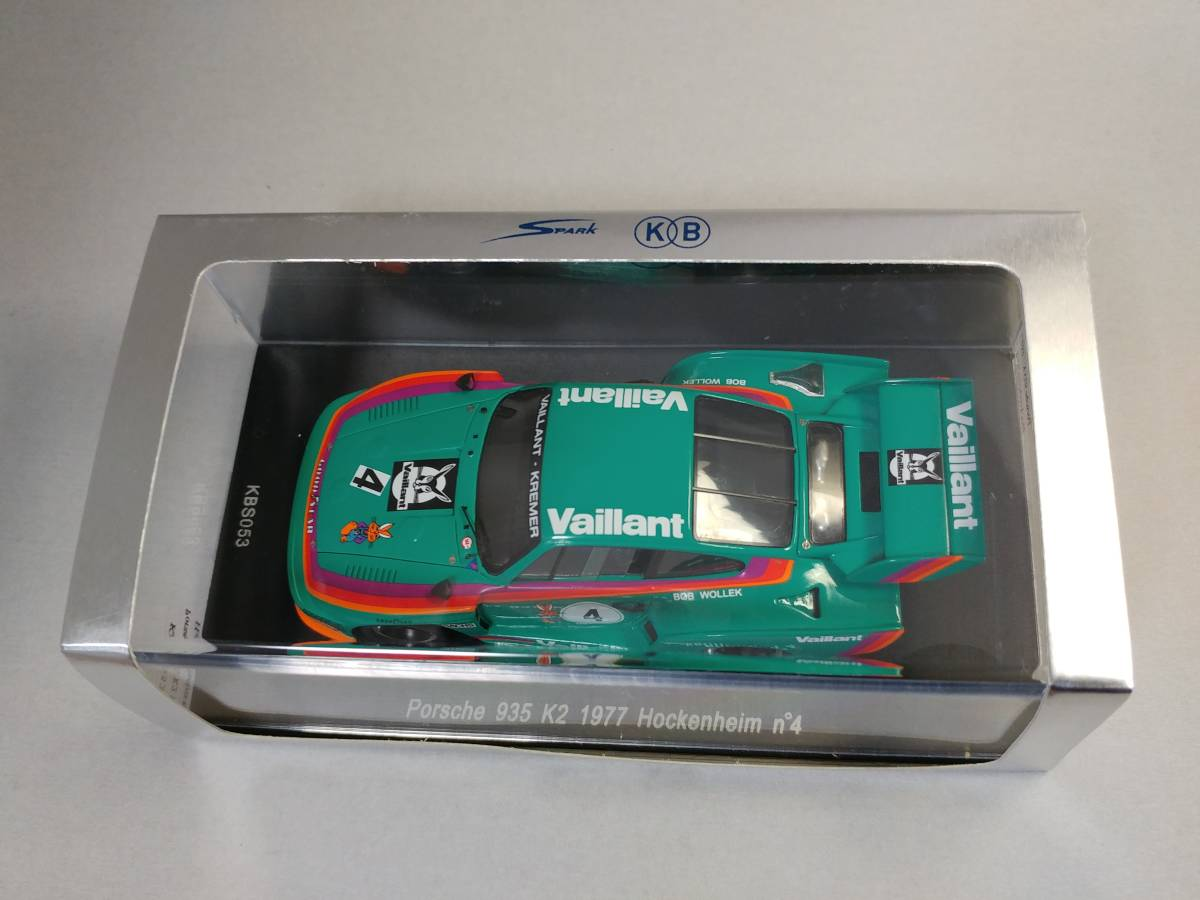 Porsche 935 k2-hockenheim 1977-bob wollek-Spark 1:43 kbs053
