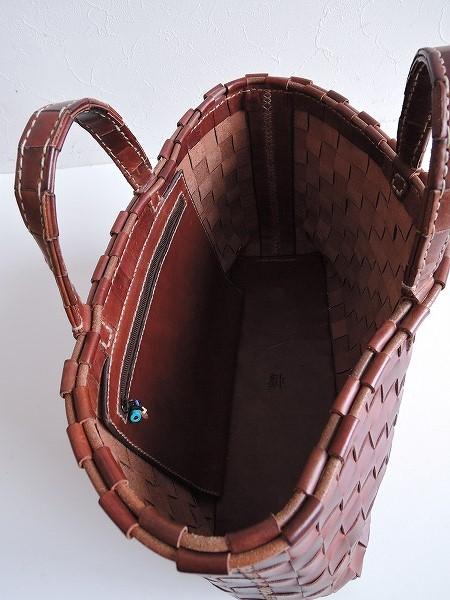 d60204fa9b6d ... アンリークイール HENRY CUIR *MARGUERITE 花刺繍トートバッグ*かばん皮革レザーブラウン