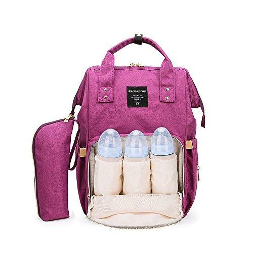 91f3c9279388 色パープル Kachabrosマザーズバッグママバッグリュックハンドバッグおしゃれ多機能大容量シンプル防水
