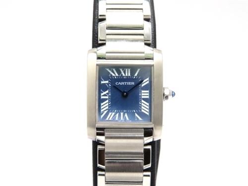 innovative design 22bbf a4b82 大黒屋21】Cartier カルティエ タンクフランセーズSM ブルー ...