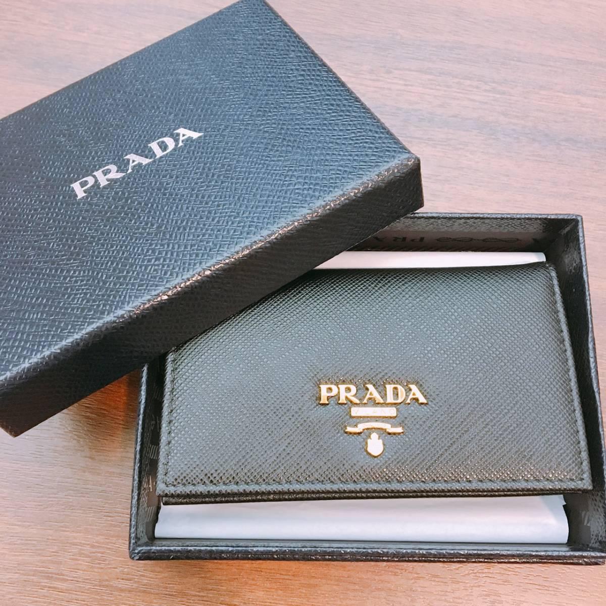 3bb3996716be 【新品・未使用】PRADA プラダ カードケース 名刺入れ 名刺ケース 1MC22 黒