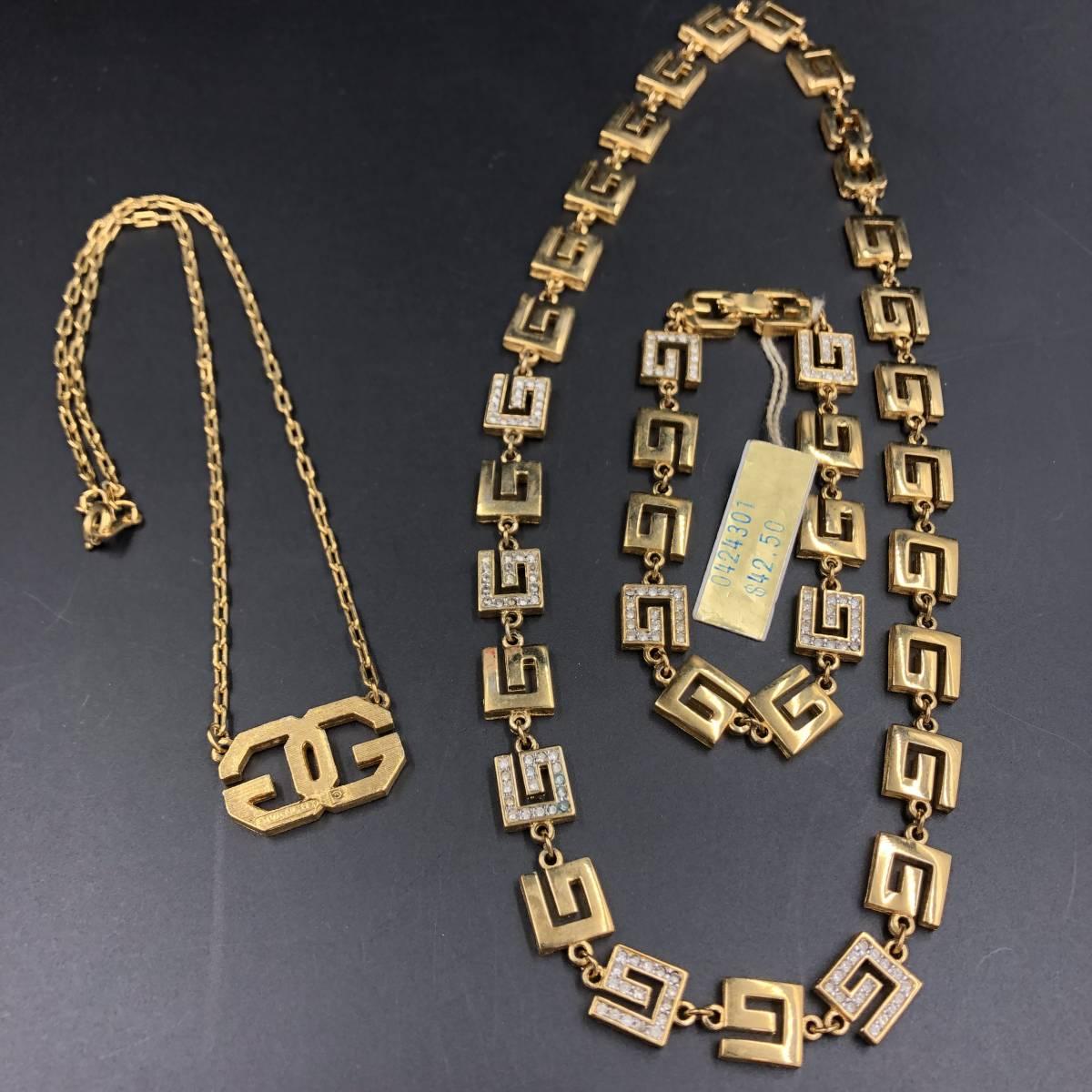 71c2b4510a7a T491 GIVENCHY(ジバンシイ) ネックレス&ブレスレット 3点セット ゴールド アクセサリーの1番目