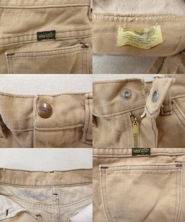 8e1e23253ecf8 ... 古着 キッズ 子供服 ショート パンツ 80年代 ラングラー タロン USA製 ベージュ カーキの3