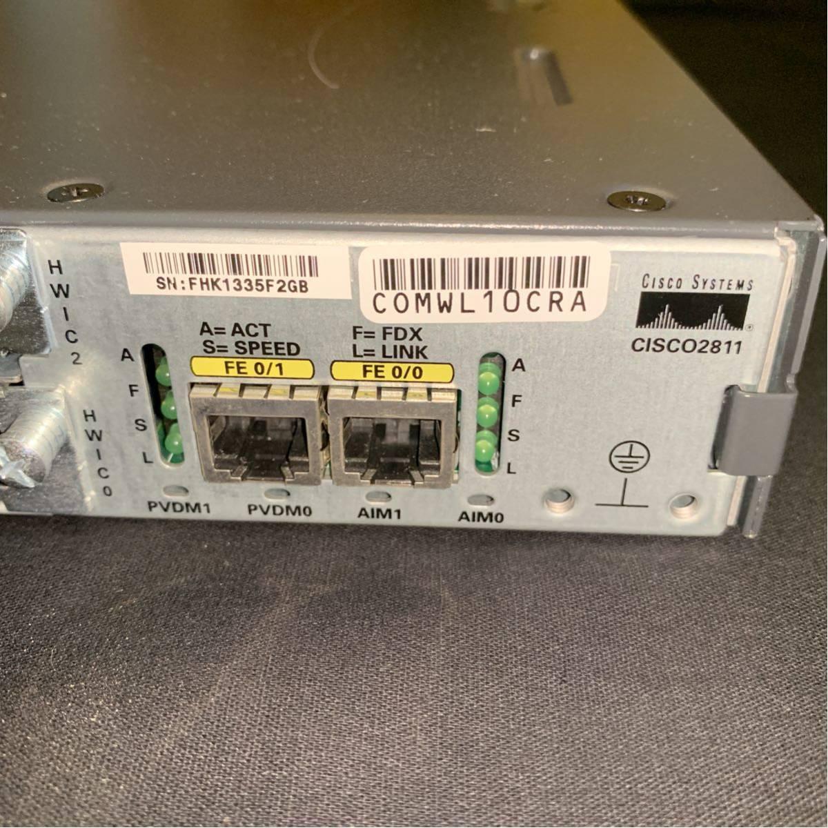 中古】Cisco2811/ D512 / F128 □9月最新15 1(4)M9 の落札情報