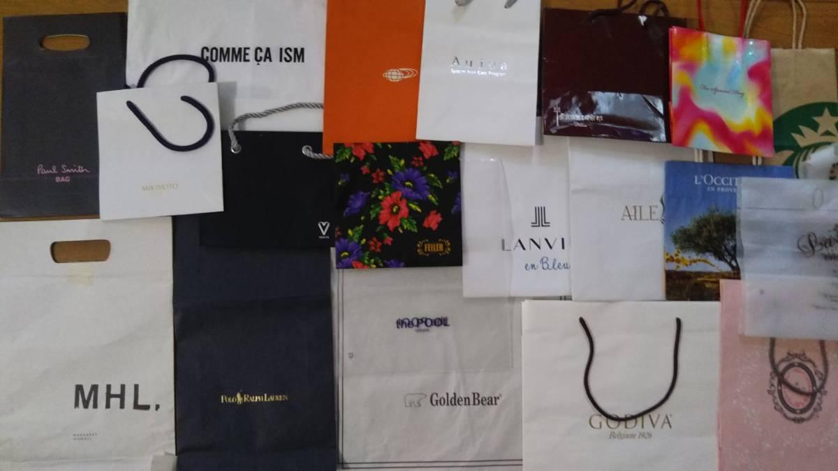 9179d00a7126 ショップ袋 紙袋 手提げ袋 ショッパー ブランド ノーブランド 20枚 まとめ売りの1番目の