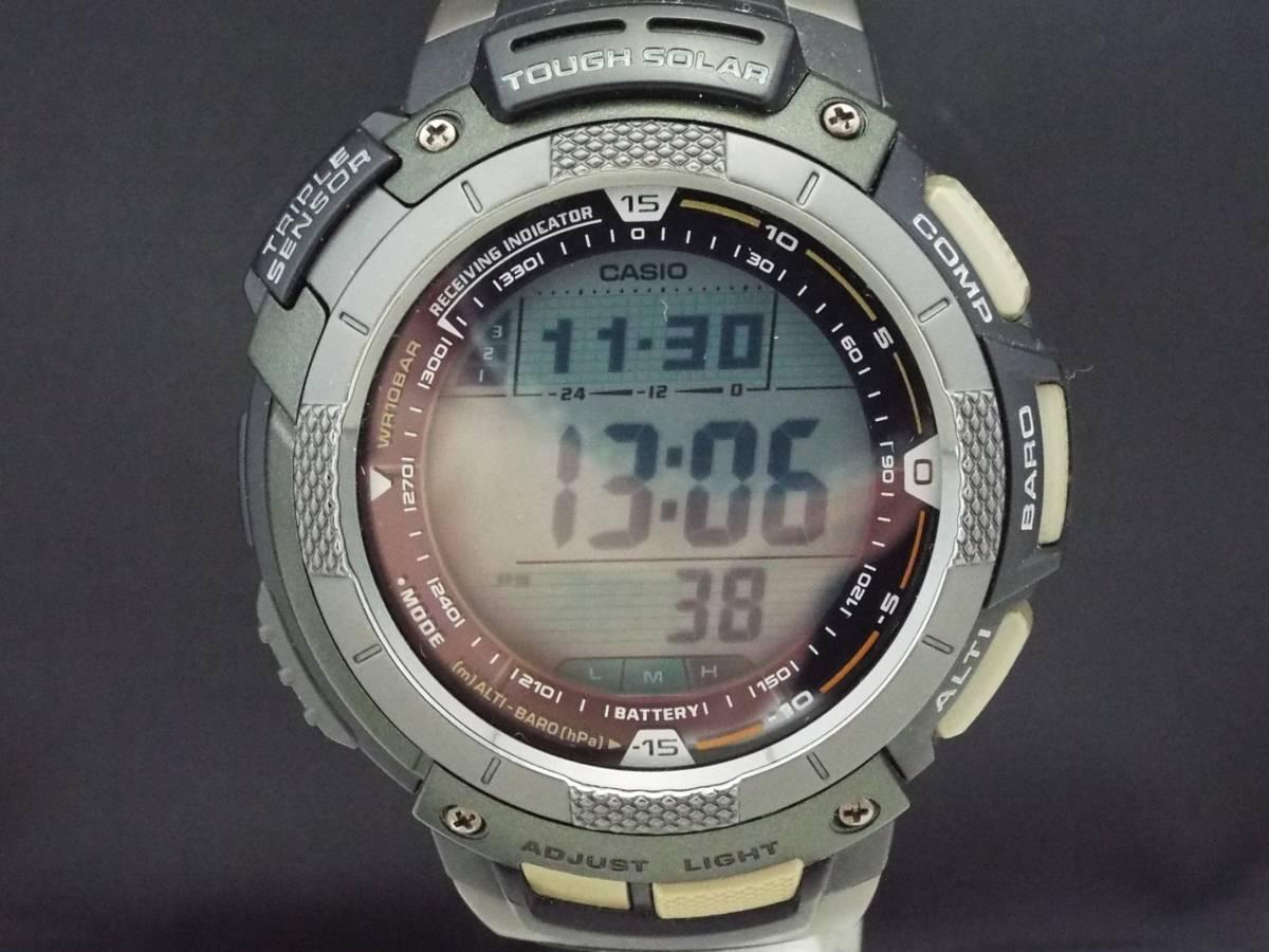 d01b81d6b8 CASIO カシオ/PRO TREK プロトレック/電波ソーラー/メンズ腕時計/デイデイト/