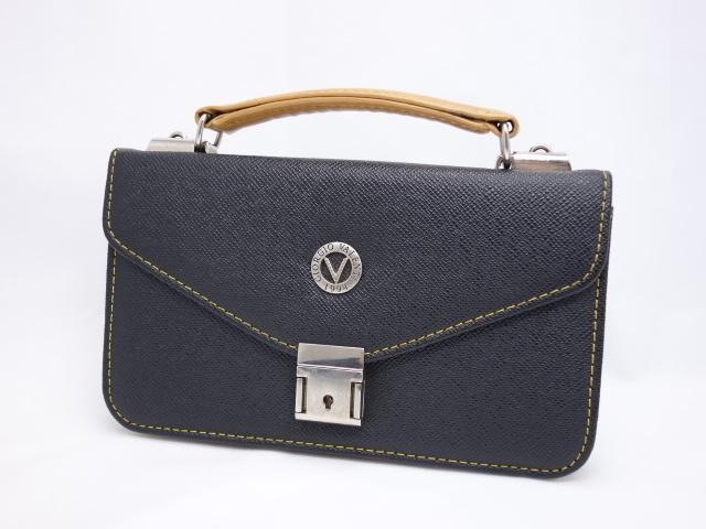 (ジョルジオ バレンチ) 黒 ビジネスバッグ美品■ 【中古】 Giorgio Valenti レザー