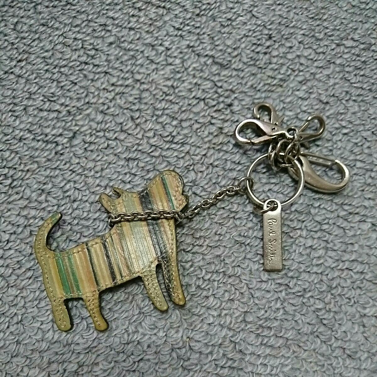 3fecce16aa31 ポールスミス キーリング キーケース キーホルダー 犬 ボーダー キーチェーン シルバー バッグ チャームの1番目