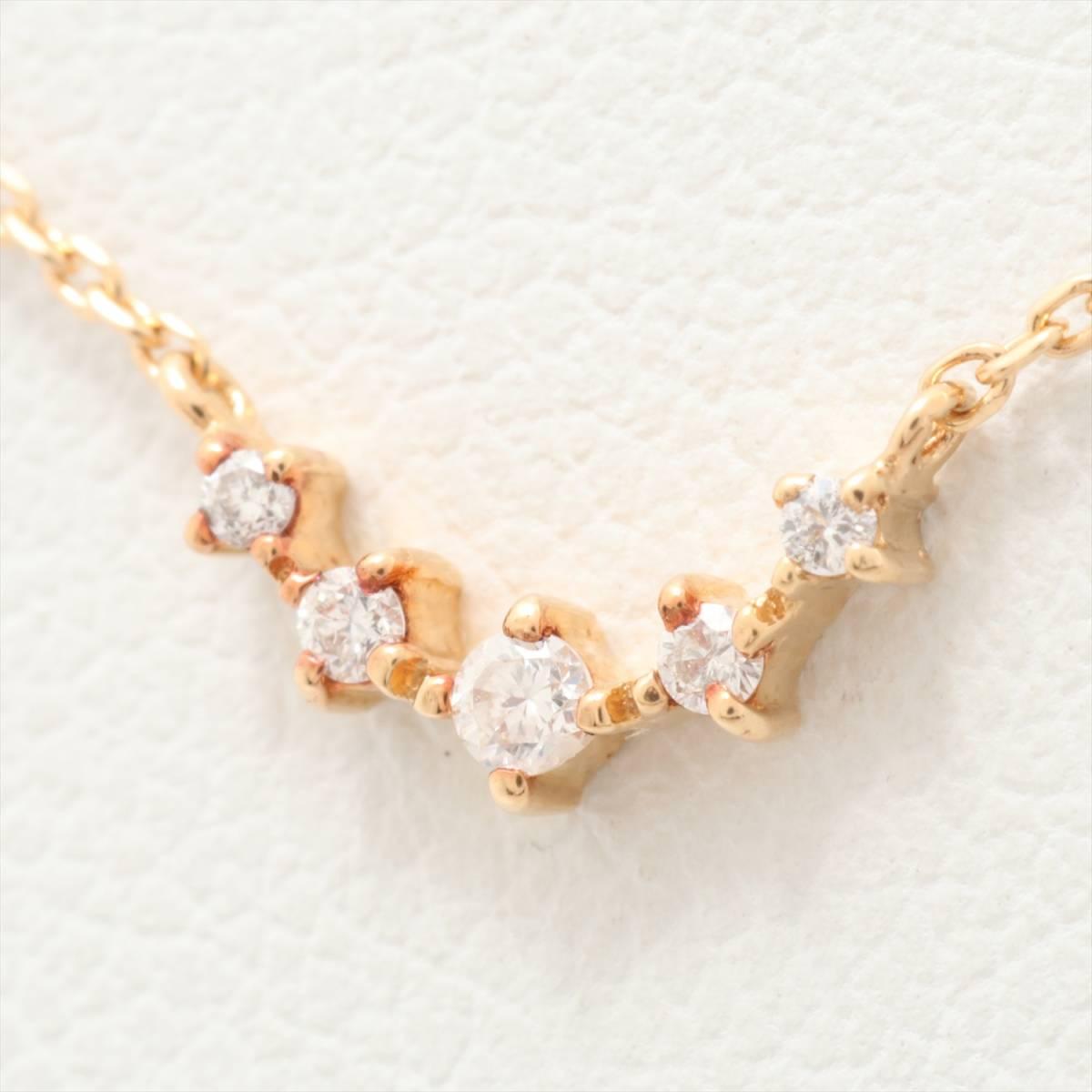 ff6bc6cd71 ヴァンドーム青山 ダイヤモンド ネックレス K18YG 華奢 星 ライン シンプル VENDOMEの1番目 ...