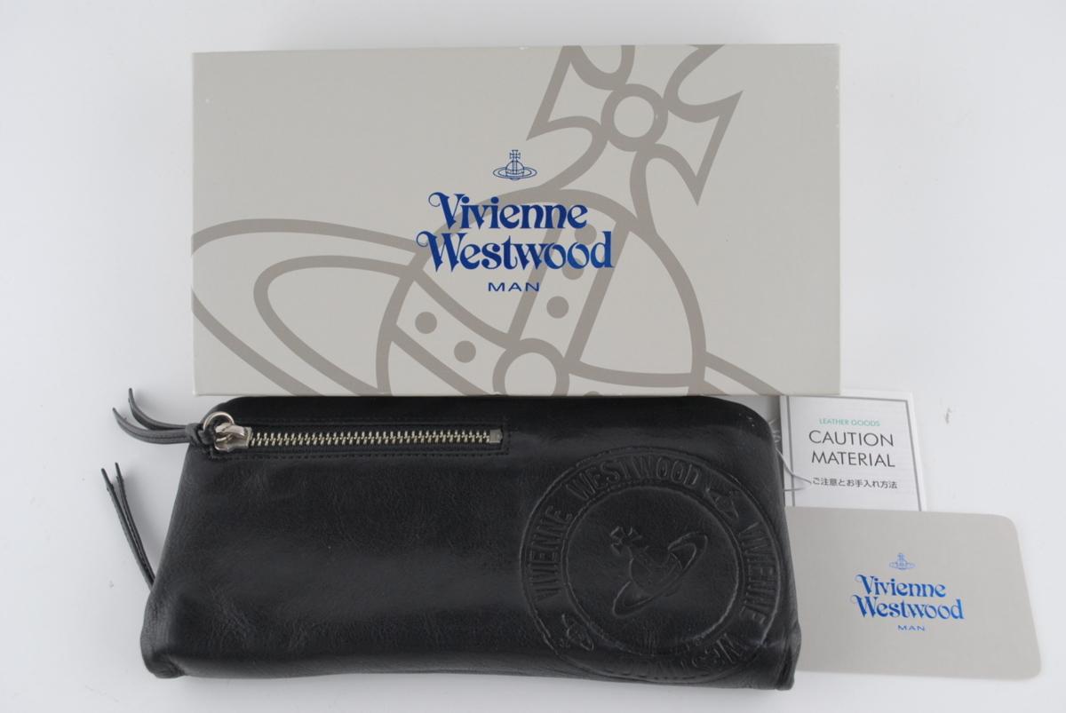 cf64cfbe88b7 〔Vivienne Westwood〕 ヴィヴィアンウエストウッド 財布 メンズ 長財布 レザー ロングウォレット 中古品