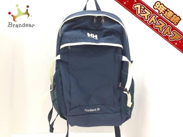 651df8551c35 ヘリーハンセン HELLY HANSEN バッグ リュックサック ナイロン ネイビー×白 新品同様の1番目