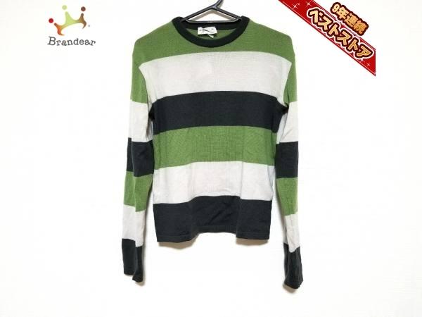 04a7296ffb32 アニエスベー agnes b トップス 長袖セーター サイズ2 M ダークグレー×ライトグリーン×ライトグレー