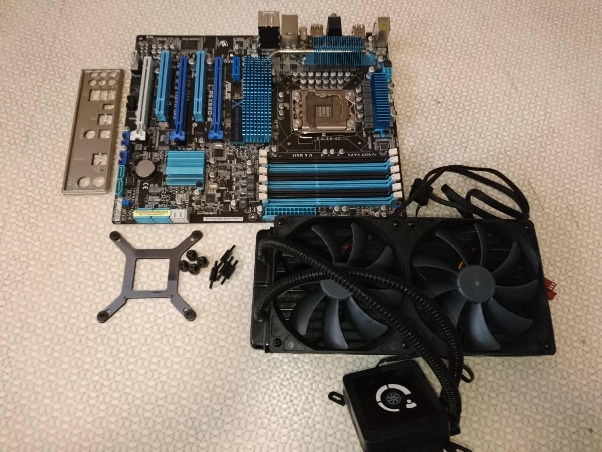 中古】ASUS LGA1366 ATXマザーボード P6X58D-E + CPUクーラー