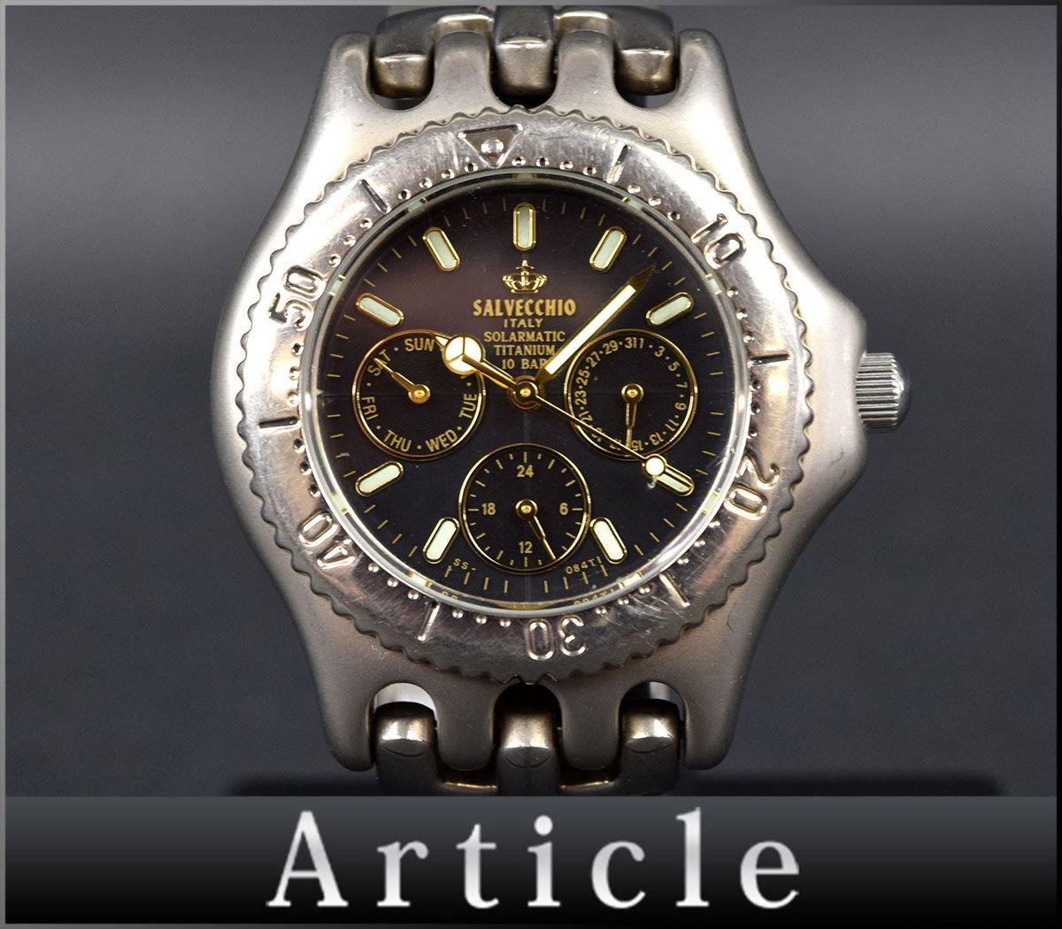 a229b04811be 72350-3☆ 動作確認済 SALVECCHIO サルベッキオ/ メンズウォッチ 腕時計/ クォーツ/