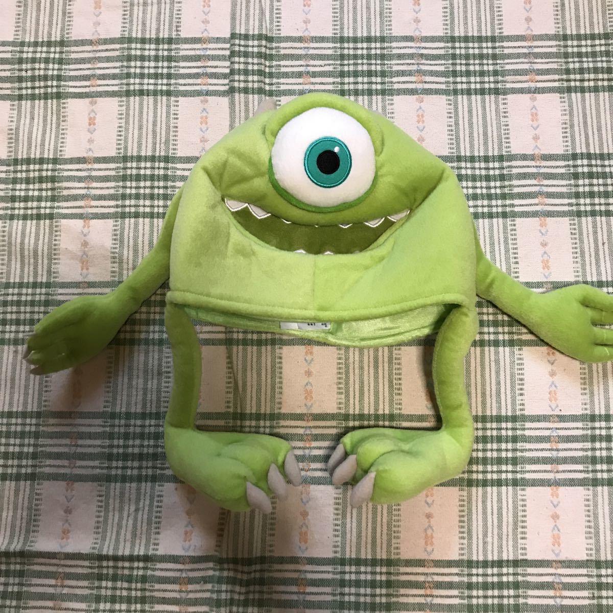 ディズニー モンスターズインク マイク ファンキャップ 帽子 ぬいぐるみ キャップ☆TDRTDLTDS ハロウィン 仮装 コスプレ サリー