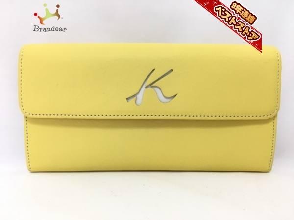 9896fcd1e992 キタムラ KITAMURA 長財布 レザー イエロー 美品 財布の1番目の画像