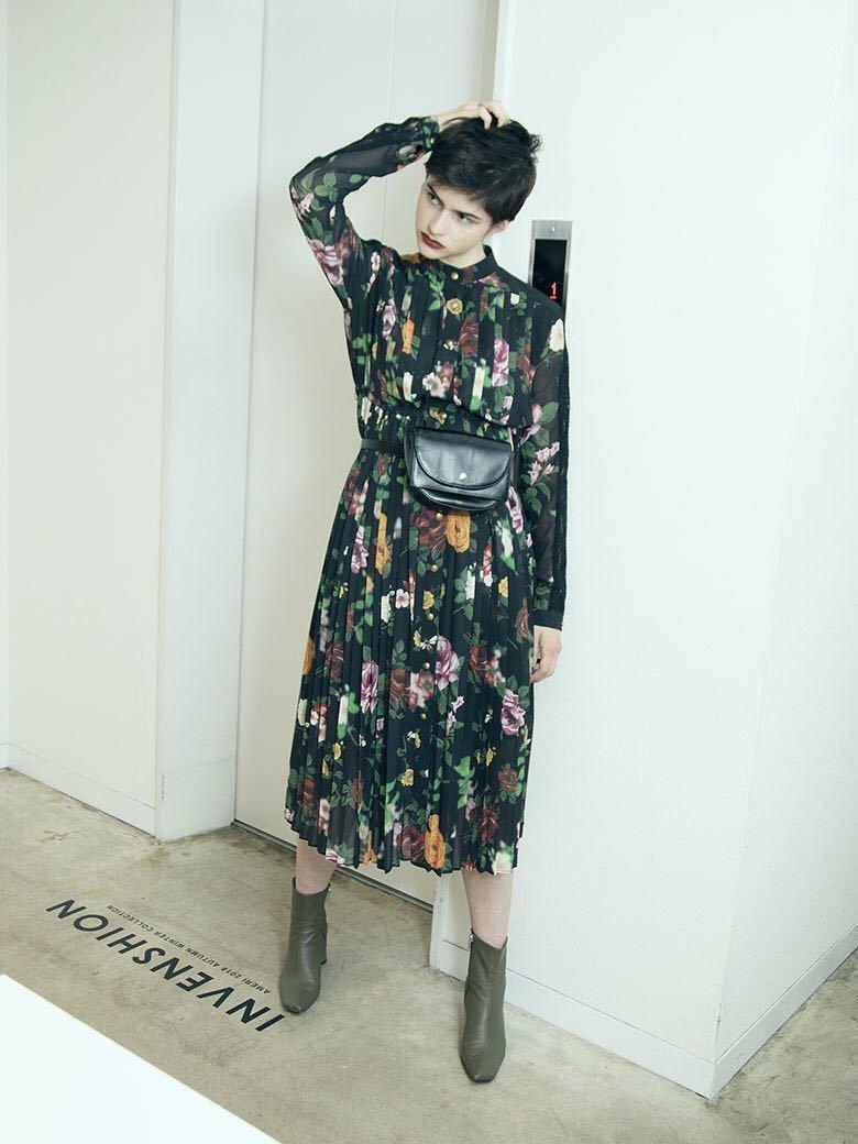 b3be55a2512d5 ... アメリヴィンテー COCO FLOWER DRESS フラワードレス ワンピース Ameri VINTAGEの3番目の画像