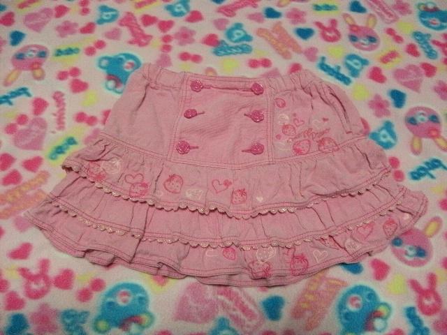 26acfd0d53b46 11☆mezzo piano (メゾピアノ)☆ピンクのコーデュロイのスカート☆110 ...
