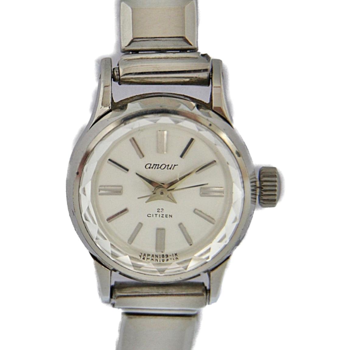 b1060d2ad6a9 1円~ CITIZEN シチズン アムール 手巻き レディース腕時計 5701-Y 女性用 カット