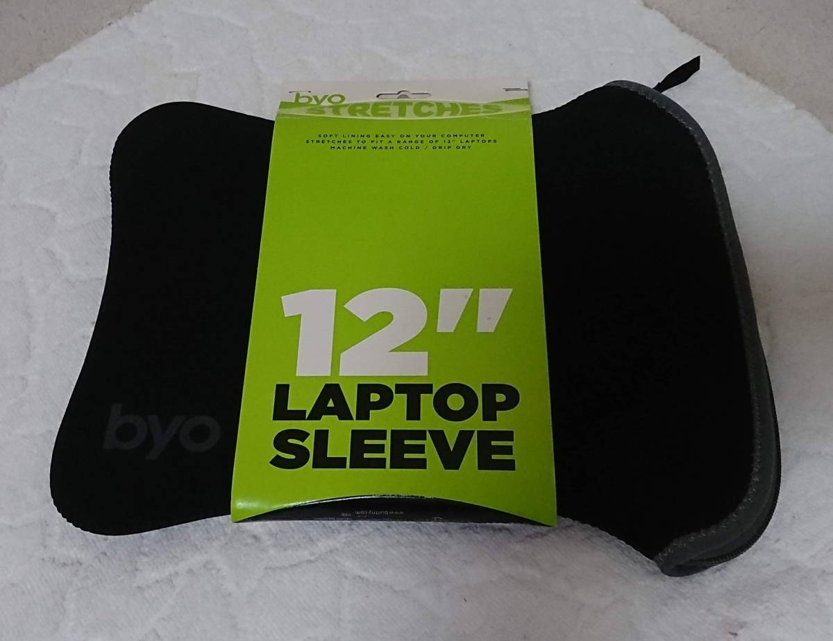 "8c37087ec348 【新品】Byo NY 12"" Laptop Sleeve (Black) 12インチ"