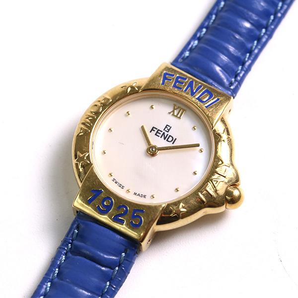 2903109e3c FENDI フェンディ 1925 クオーツ レディース シェル文字盤 430L 腕時計 中古の1番目の画像