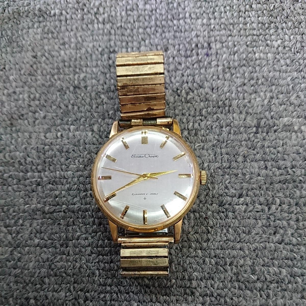 a836c586ac78 SEIKO セイコー クラウン アンティーク 21石 J15003E 手巻き メンズ腕時計の1番目の画像